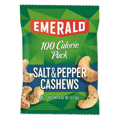 100 Calorie Pack Nuts, Salt & Pepper Cashews, 0.62 Oz Pack, 7/box
