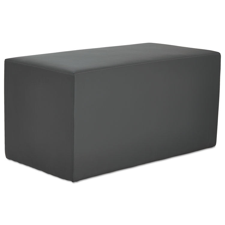 Alera We Series Collaboration Seating, Rectangle Bench, 36 X 18 X 18, Slate