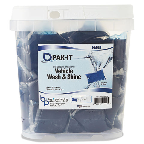 Vehicle Wash & Shine, Blue, 50 Pak-Its/tub
