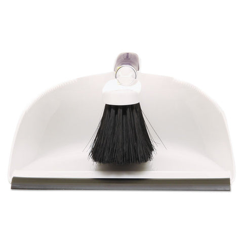 Duster Brush W/plastic Dustpan, White
