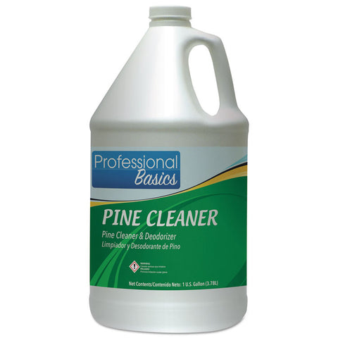 Professional Basics Pine Cleaner, Pine Scent, 1 Gal Bottle, 4/carton