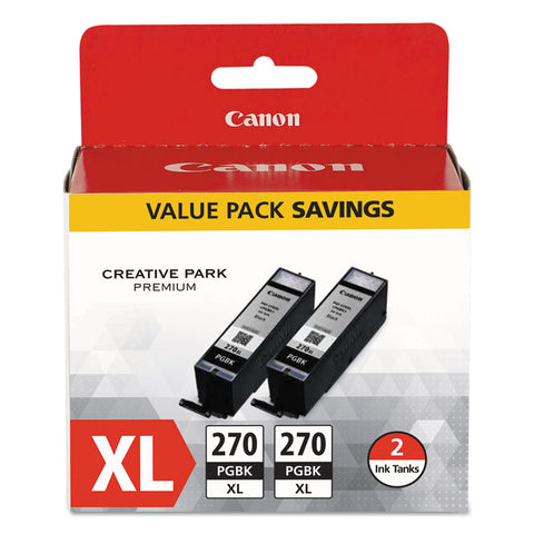 0319c005 (pgi-270xl) High-Yield Ink, Black, 2/pk