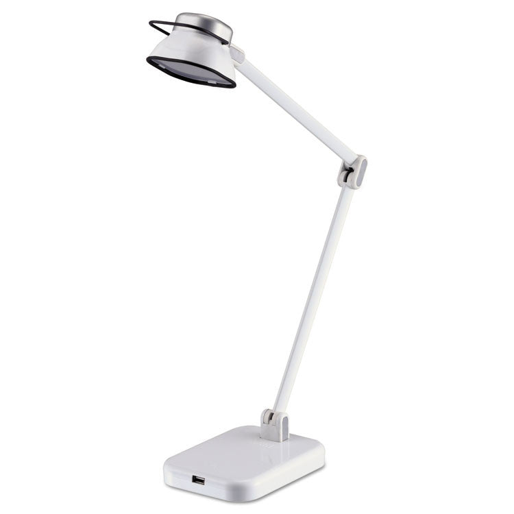 "Pureoptics Elate Dual-Arm Led Desk Light, 2 Prong, 21"", White"
