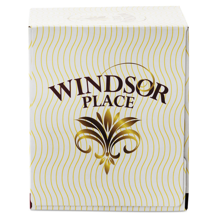 WINDSOR PLACE CUBE FACIAL TISSUE, 2-PLY,7 2/5 X 8 1/5, 85/BOX, 30 BOX/CARTON