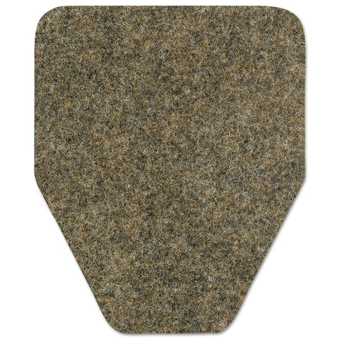 Antimicrobial Floor Mat, Urinal, 17 X 20 1/2, Brown, 48/carton