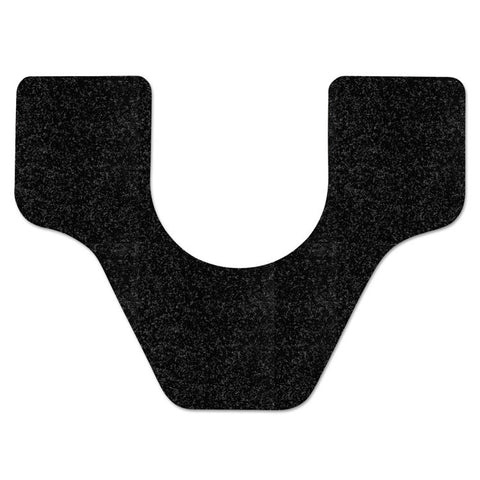 Antimicrobial Floor Mat, Commode, 27 X 25, Black, 28/carton