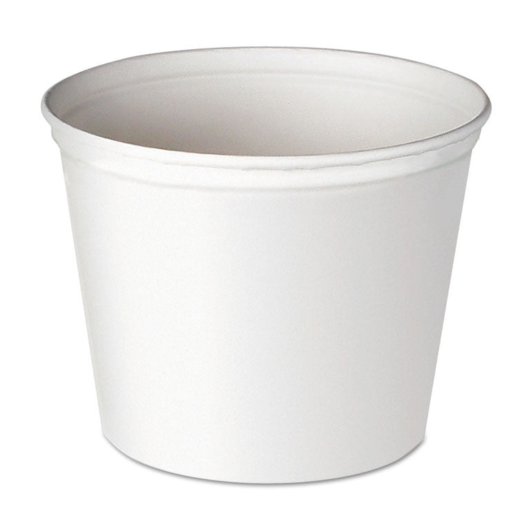 Double Wrapped Paper Bucket, Unwaxed, White, 165oz, 100/carton