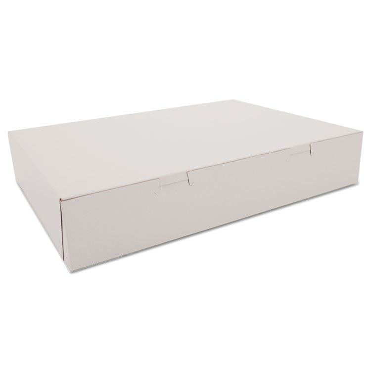Bakery Boxes, White, Paperboard, 15 X 11 3/16 X 2 3/4, 100/carton