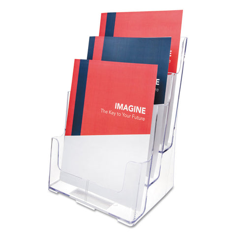 3-COMPARTMENT DOCUHOLDER, MAGAZINE SIZE, 9 1/2 X 6 1/4 X 12 5/8, CLEAR