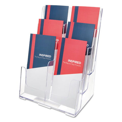 6-COMPARTMENT DOCUHOLDER, LEAFLET SIZE, 9 X 7 1/2 X 13 3/4, CLEAR