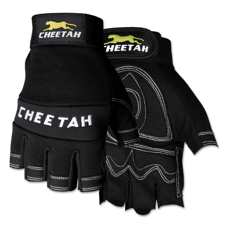 Cheetah 935chfl Fingerless Gloves, Large, Black