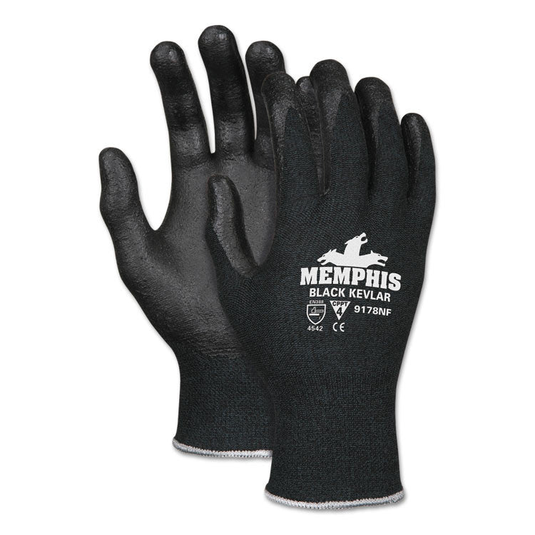 Kevlar Gloves 9178nf, Kevlar/nitrile Foam, Black, Medium