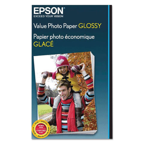 Value Glossy Photo Paper, 9.1 Mil, 4 X 6, White, 20 Sheets/pack