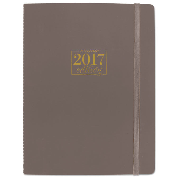 Workstyle Take Care Weekly/monthly Planner, 8 1/ 2 X 11, Chestnut, 2017