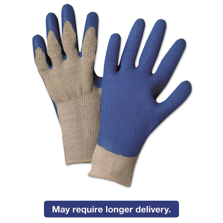 Latex Coated Gloves 6030, Gray/blue, Small, 12 Pairs