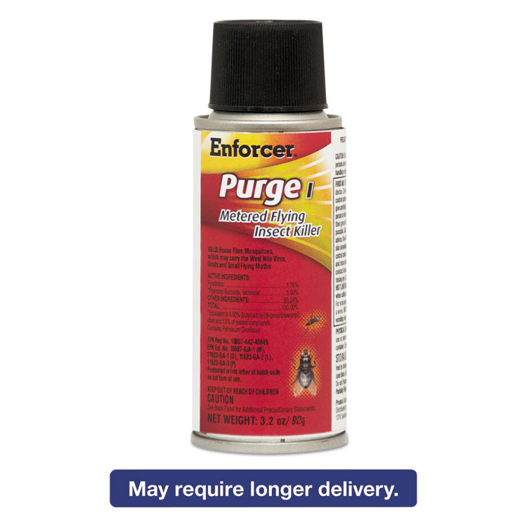 Purge I Micro Metered Flying Insect Killer, 3.2oz Aerosol, Unscented, 6/carton