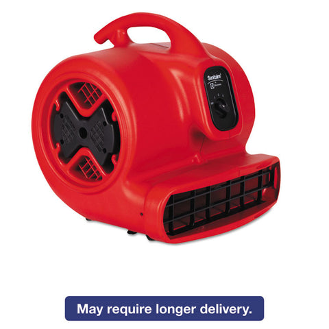 Commercial Three-Speed Air Mover, 1/2 Hp Motor, 20 Lbs, Red/black
