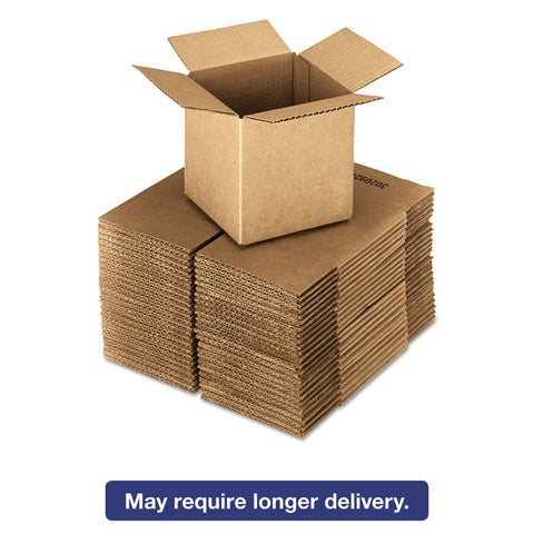 Brown Corrugated - Cubed Fixed-Depth Shipping Boxes, 4l X 4w X 4h, 25/bundle