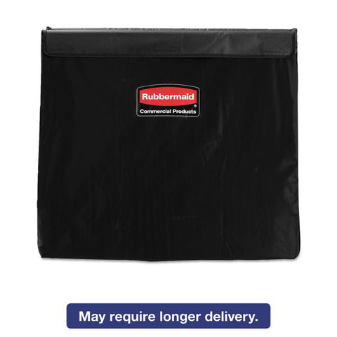 Collapsible X-Cart Replacement Bag, 8 Bushel, 220 Lbs, Vinyl, Black