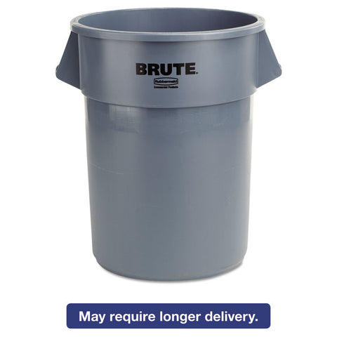 Brute Round Container, 55gal, Gray