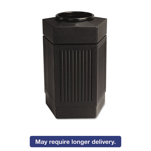 Canmeleon Indoor/outdoor Receptacle, Pentagon, Polyethylene, 30gal, Black