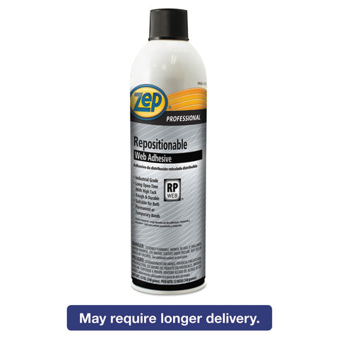 Repositionable Web Adhesive, 20 Oz, Aerosol, 12/carton
