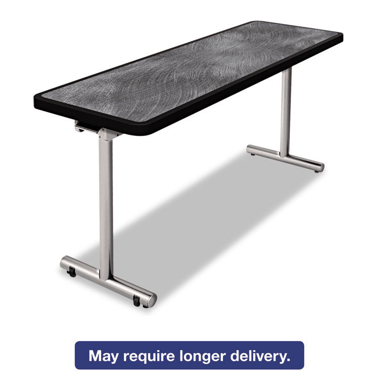 Aero Mobile Folding Table, 72 X 24 X 29, Pewter