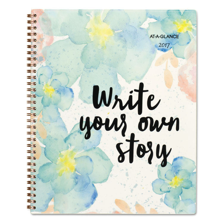B Positive Prof. Week/month Planner, Write Your Own Story, 9 1/4 X 11 3/8, 2017