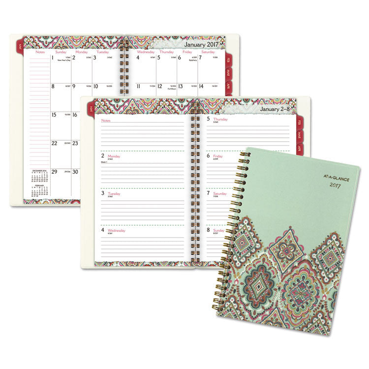 Marrakesh Desk Weekly/monthly Planner, 5 3/4 X 8 1/8, 2017