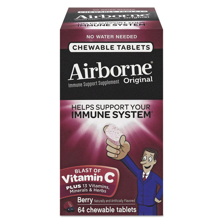 Immune Support Chewable Tablet, Berry, 64 Count