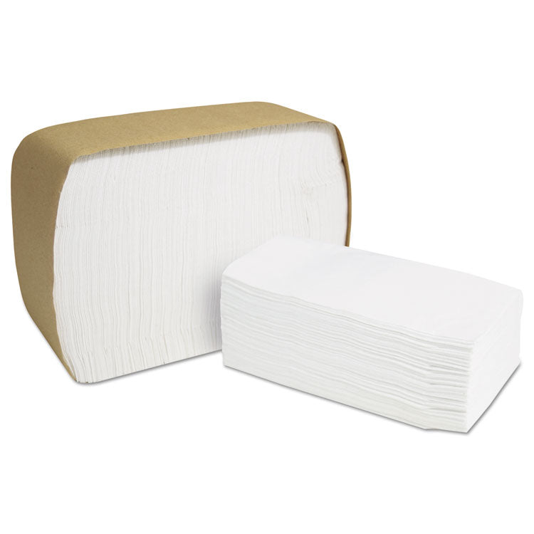 North River Servrite Dispenser Napkins,1-Ply,6 1/2x3 3/4,white,300/pack,6000/ct