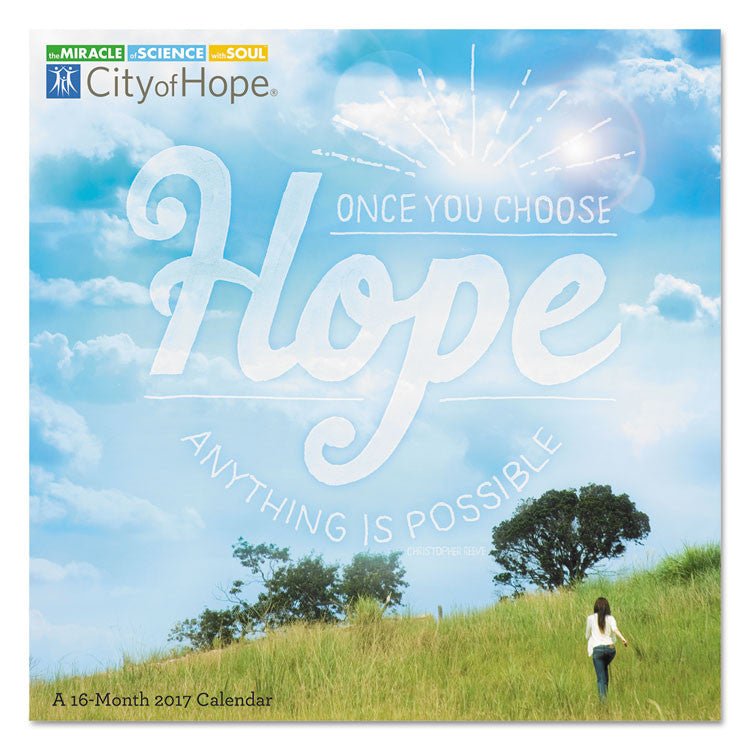 Day Dream City Of Hope Wall Calendar, 12 X 12, 2017-2018