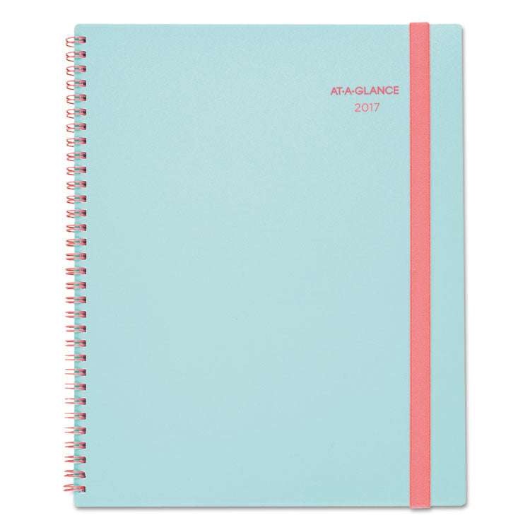 Color Play Weekly/monthly Planner, 8 1/2 X 11, Teal/red, 2017