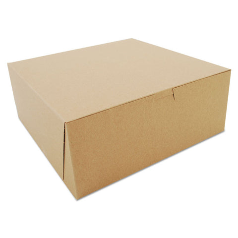 Bakery Boxes, Kraft, Paperboard, 10 X 10 X 4, 100/bundle