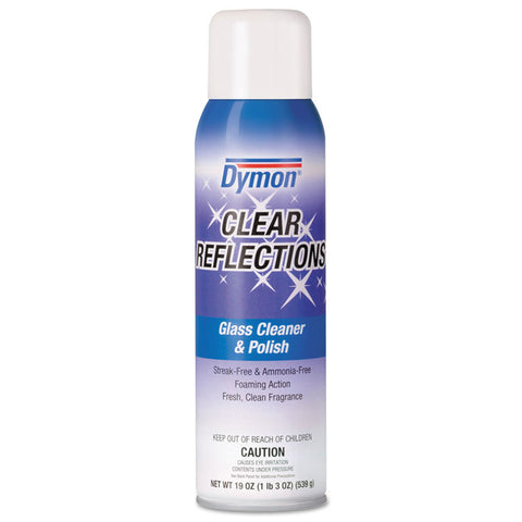 Clear Reflections Mirror & Glass Cleaner, 20 Oz, Aerosol, 12/carton