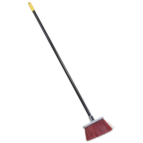 "Bulldozer Landscaper's Upright Broom, 48"" Handle, 4"" Bristles, Red/gray"
