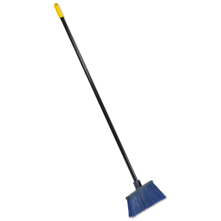"Bulldozer Extra-Wide Rough Surface Broom, 48"" Handle, 4"" Bristles, Blue/gray"