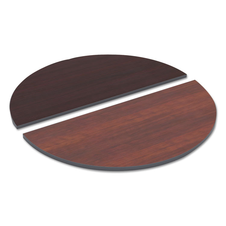 Reversible Laminate Table Top, Half Round, 48w X 24d, Medium Cherry/mahogany