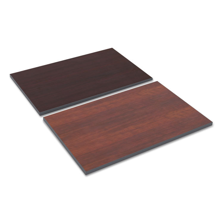 Reversible Laminate Table Top, Rectangular, 36w X 24d, Medium Cherry/mahogany