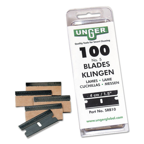 Safety Scraper Replacement Blades, #9, Stainless Steel, 100/box