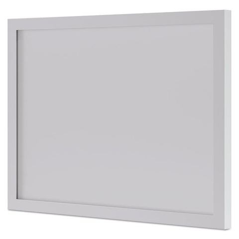 Bl Series Frosted Glass Modesty Panel, 39 1/2w X 1/8d X 27 3/8h, Silver/frosted