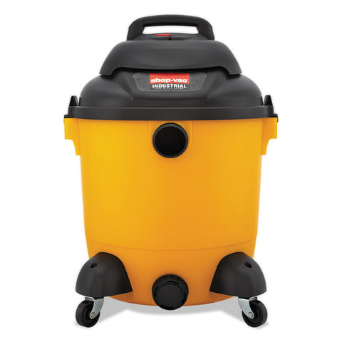 Industrial Wet/dry Vacuum, 12gal, 2.5hp, Yellow/black
