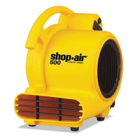 "Mini Air Mover, Yellow, 8"", Plastic, 500 Cfm"