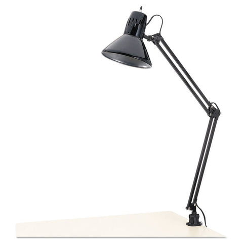 "Architect Lamp, Adjustable, Clamp-On, 28"" High, Black"