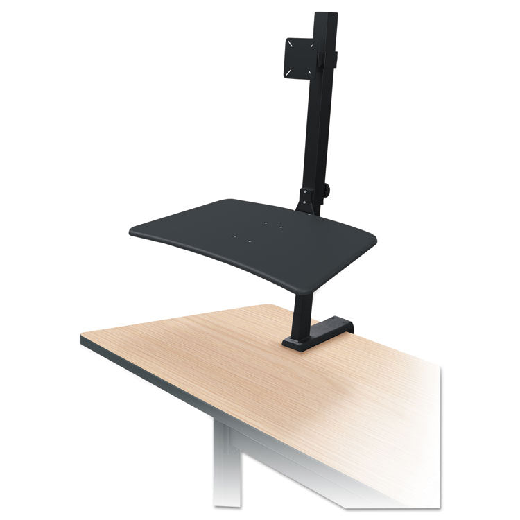 Up-Rite Rear Mounted Sit-Stand Workstation, Single, 27 5/8 X 30 X 42, Black