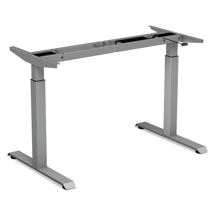 "2-Stage Electric Adjustable Table Base, 27 1/2"" To 47 1/4"" High, Gray"