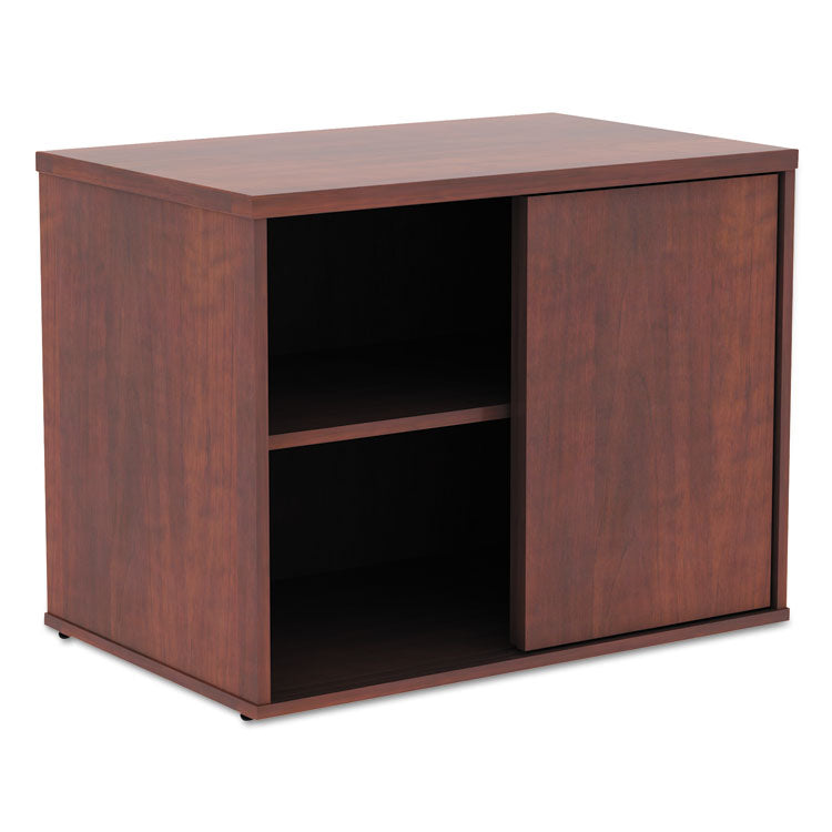 Alera Open Office Low Storage Cabinet Credenza, 29 1/2 X 19 1/8x 22 7/8, Cherry