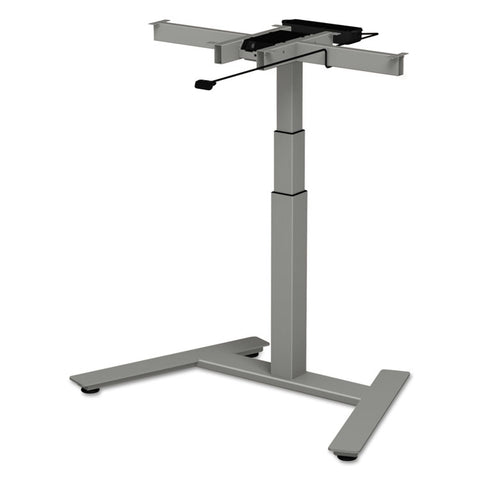"3-Stage Single-Column Electric Adjustable Table Base, 24 3/4"" To 43 1/4""h, Gray"