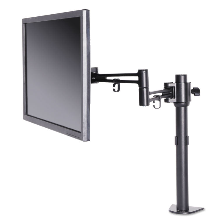 Pole-Mounted Articulating Monitor Arm, Single Monitor Up To 30