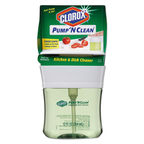 Pump 'n Clean Kitchen Cleaner, Crisp Citrus Scent, 12 Oz Pump Bottle